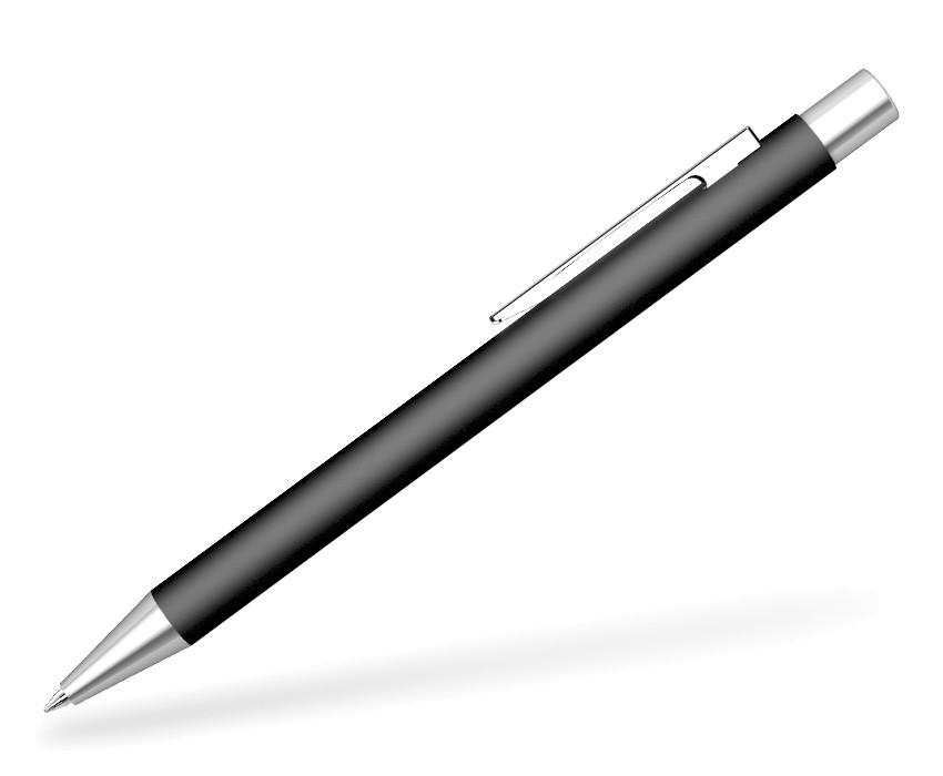 UMA Straight Matt SI Kugelschreiber schwarz Seitenansicht